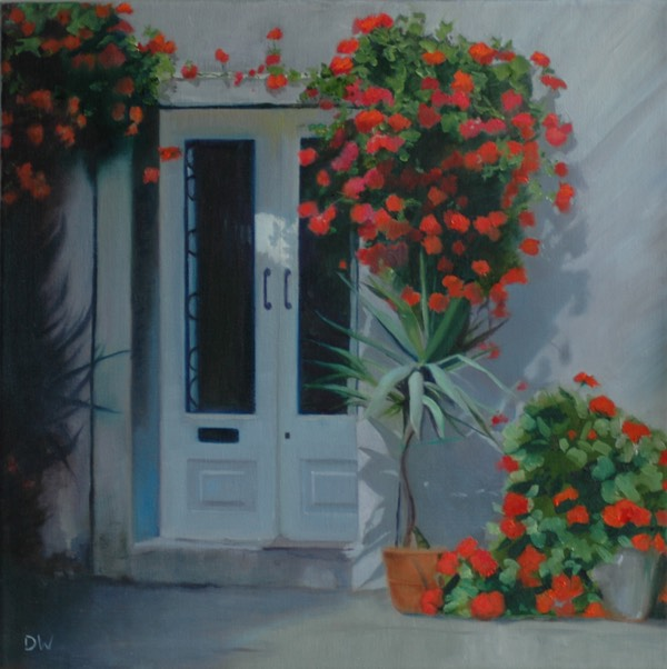 06 Shaded corner with geraniums copy